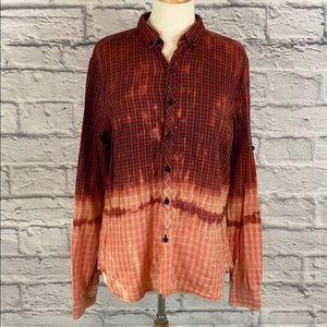 Ladies BDG Custom Half Dip Bleach Dye Flannel